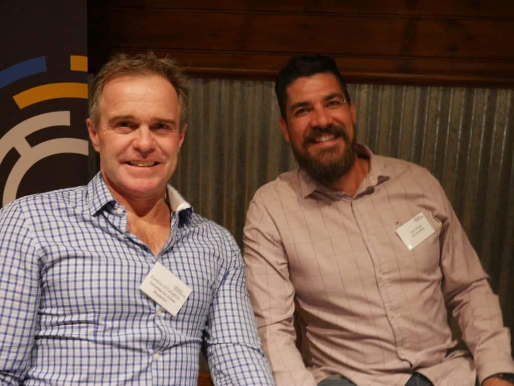 Damion O'Callaghan and Dean Briggs at 2021 AGM Dinner