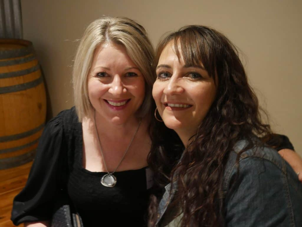 Deanne Armstrong and Anita McCurdy at 2021 AGM Dinner