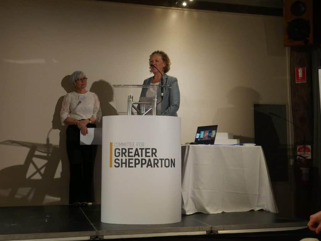 Jane Macey presenting at 2021 AGM Dinner