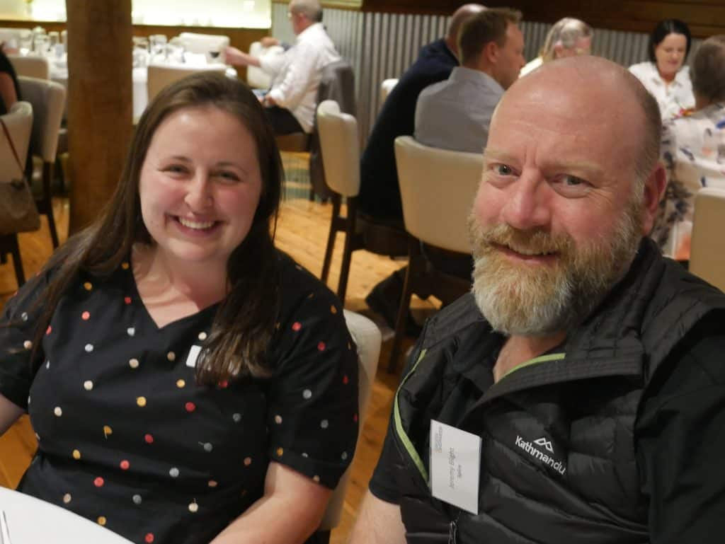 Lisa Ford and Jeremy Blight at 2021 AGM Dinner