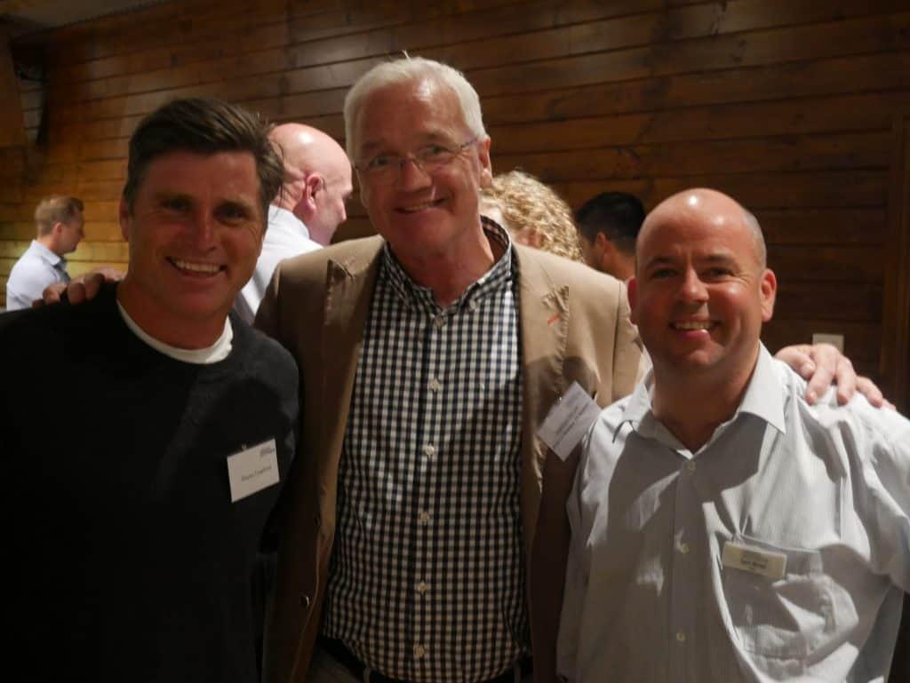 Shane Crawford, Damian Drum and Sam Birrell at 2021 AGM Dinner