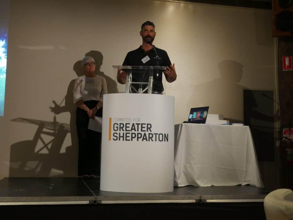 Soenke Tremper presenting at 2021 AGM Dinner