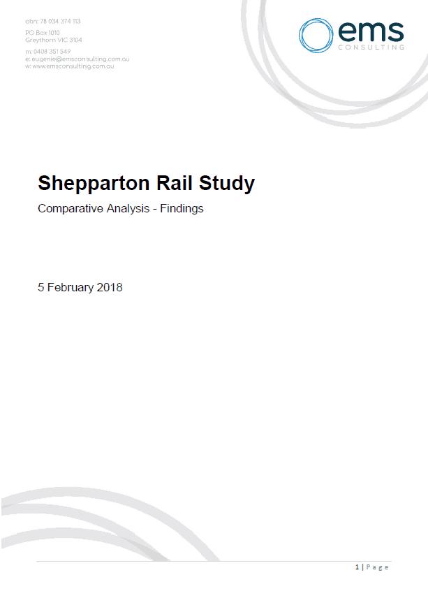 Shepparton Rail Study 2018