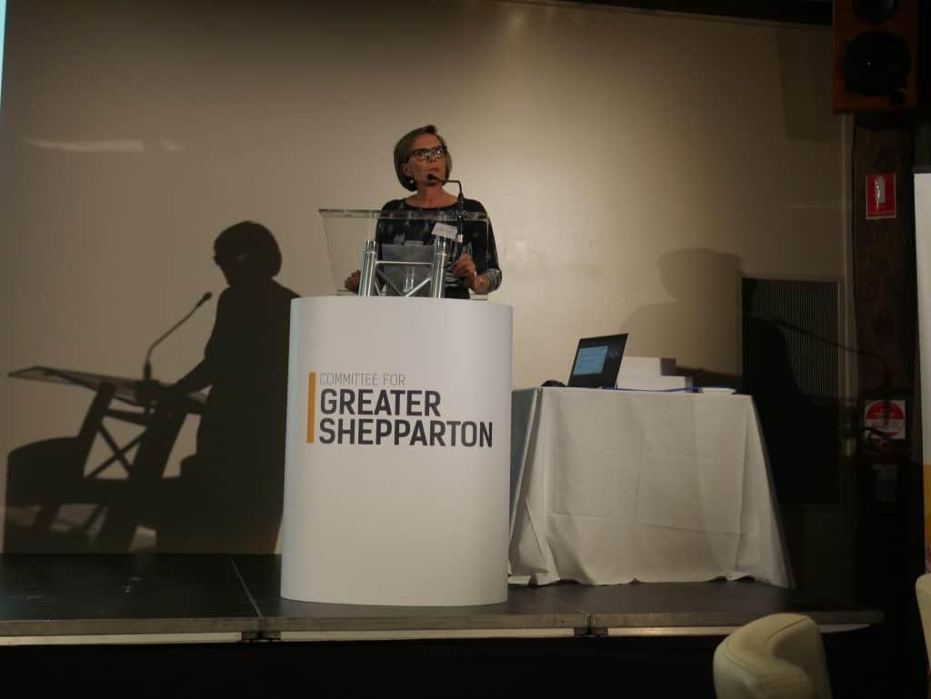 Fiona Smolenaars presenting at 2021 AGM Dinner