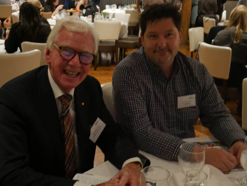 Graham Hill and Darren Payne at 2021 AGM Dinner