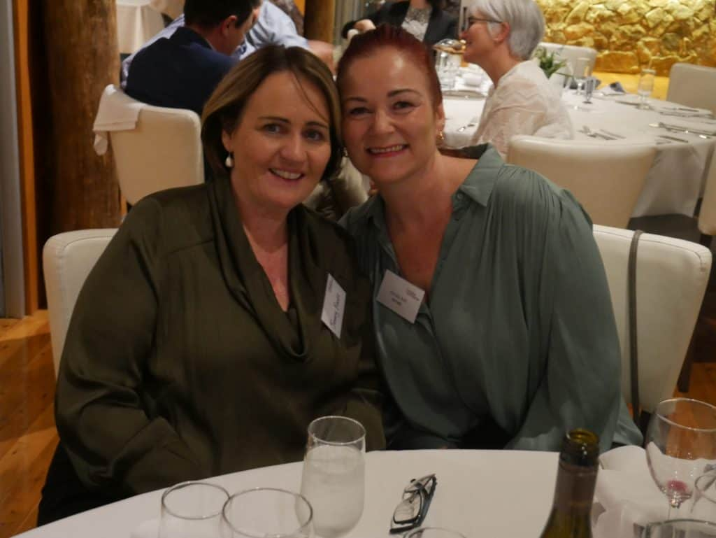 Jenny Foott and Kirstie Ash at 2021 AGM Dinner