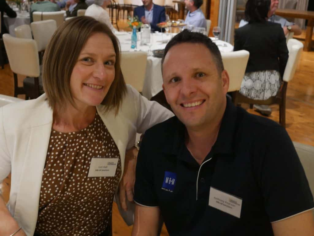 Lori Hall and Anthony Pearson at 2021 AGM Dinner