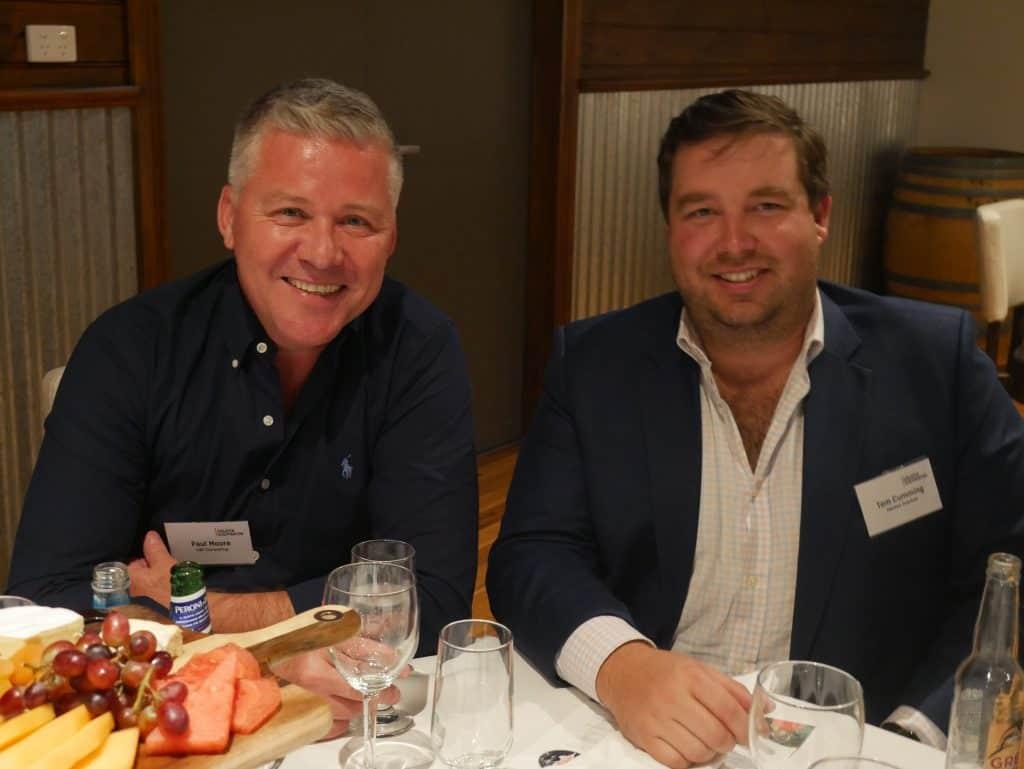 Paul Moore and Tom Cumming at 2021 AGM Dinner